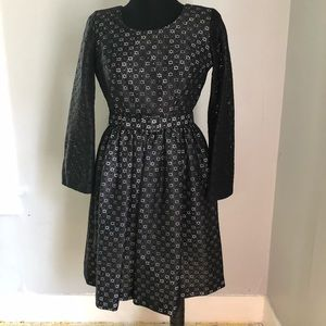 Vintage Paul Norton Black Eyelet Dress